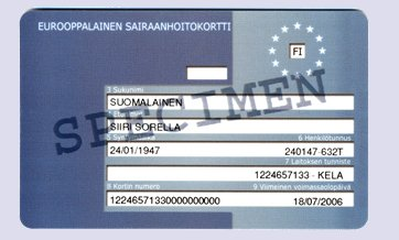 EU health card link